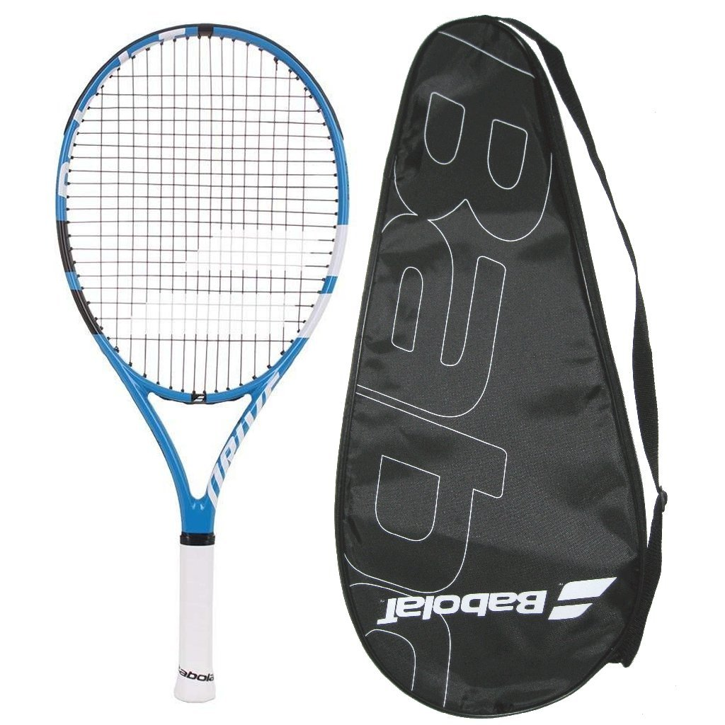 Babolat 2018 Drive 25 Junior Tennis Racquet Strung with Cover