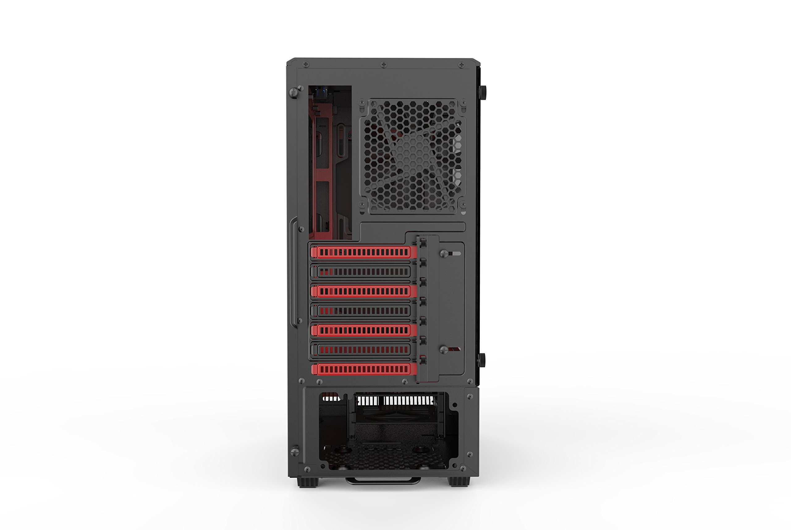 Phanteks PH-EC300PTG_BR Eclipse P300 Tempered Glass Steel ATX Mid Tower Case Black/Red by Phanteks (Image #2)