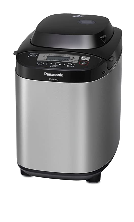 Panasonic SD-ZB2512KXE - Panificadora con dispensador (33 modos preprogramados), color plateado (Reacondicionado Certificado): Amazon.es