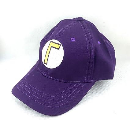 17246e192b20 Amazon.com: Super Mario Bros Waluigi L Letter Cap Sport Baseball Hat ...