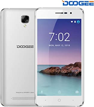 Android 8.1 Telefonos Moviles Libres, DOOGEE X10S Dual Sim 3G Móviles y Smartphones Libres 1GB RAM 8GB ROM, Batería 3360mAh, Cámaras 5MP + 2MP, Pantalla 5.0