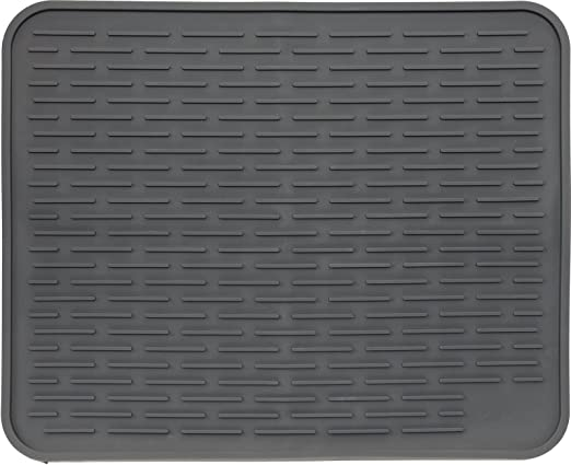 Amazon Com Xl Silicone Dish Drying Mat 22 X 18 Inch Large Counter Top Dish Pad And Trivet By Lish Slate Grey 22 X 18 Kitchen Dining