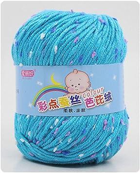 Xurgm Mano de Lana, algodón estándar 100 Certificados de Lana para Punto y Ganchillo para Tejer Crochet seidenprotein Soft Baby algodón Lana Hilo 23 Color Ganchillo Hilo de Punto, carbón, 13: Amazon.es: