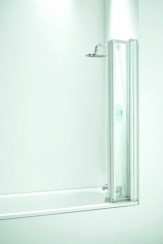 Coram Showers Sfd4cuc 1400mm X 865mm 4 Panel Folding Bath Screen
