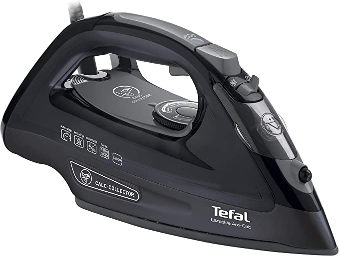 Tefal FV2660 Ultraglide Anti-Scale Steam Iron, 2400 W - Black
