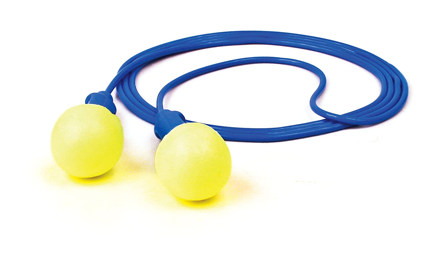 3M E.A.R Push-Ins Earplugs, Corded, 28NRR, Yellow/Blue   B0017YEMB6