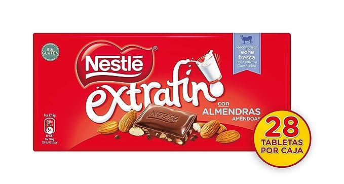 NESTLÉ EXTRAFINO Chocolate con Leche y Almendras 123g: Amazon.es: Amazon Pantry