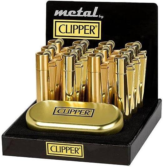 1 x Clipper original oro metal encendedor con dorado metalizado lata: Amazon.es: Hogar