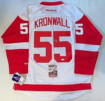 2fd2c524f Signed Niklas Kronwall Jersey - Reebok Premier - JSA Certified -  Autographed NHL Jerseys