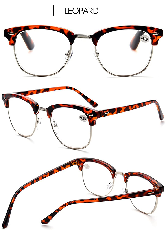 VEVESMUNDO Reading Glasses Men Women Vintage Metal Optical Presbyopic Eyeglasses