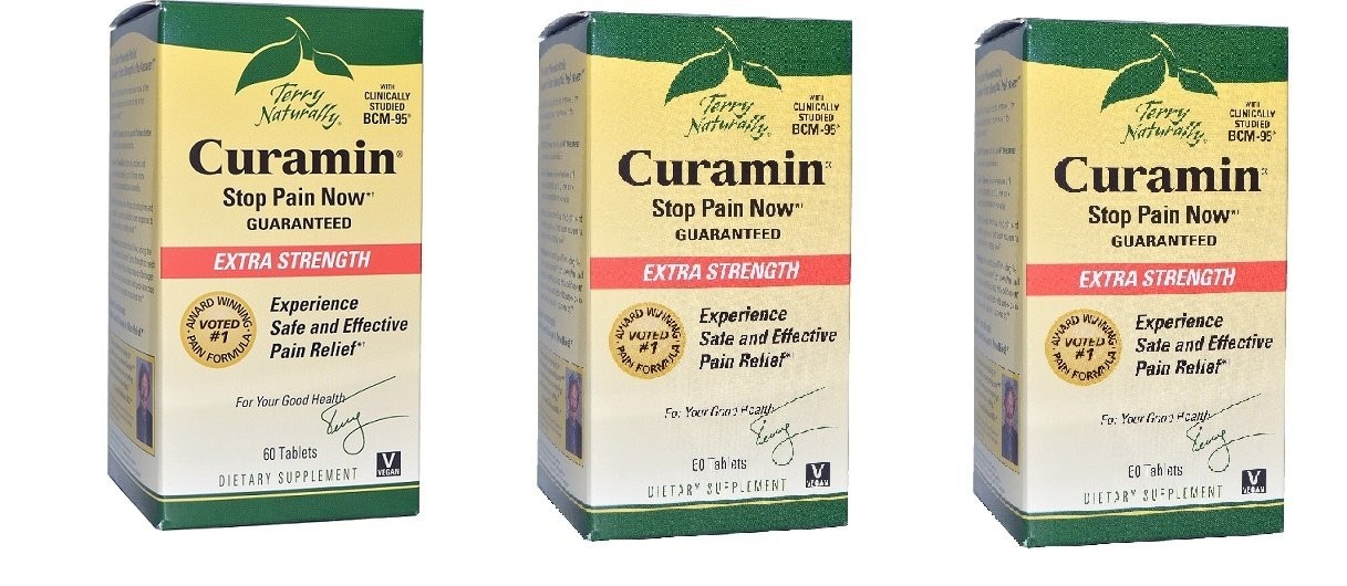 Terry Naturally / EuroPharma Curamin Extra Strength 60 Tablets - 3 Pack