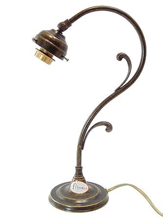 Lámpara de latón bruñido de mesa, escritorio, base lámpara de ...