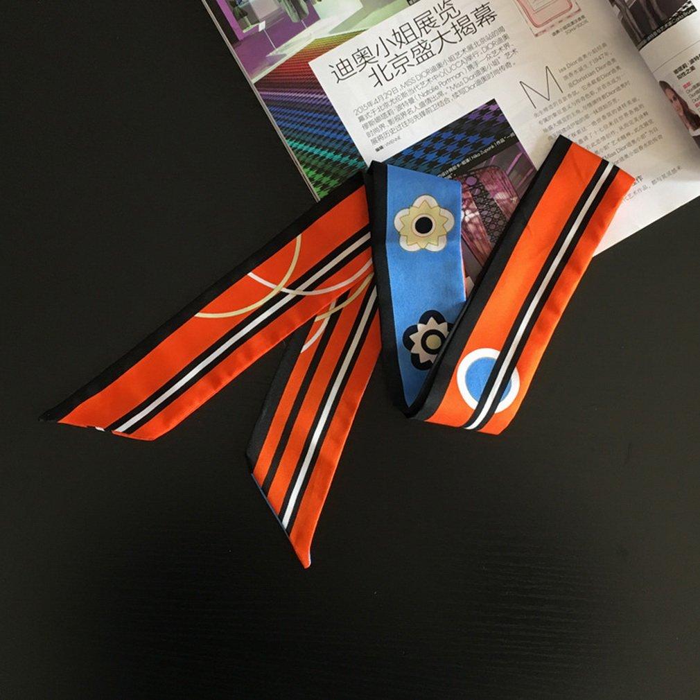 COMVIP Echarpe pour Sac à Main Femme Imitation Soie Décoration Ruban  Foulard Bandeau Mode Orange  Amazon.fr  Jeux et Jouets 980c36ac402