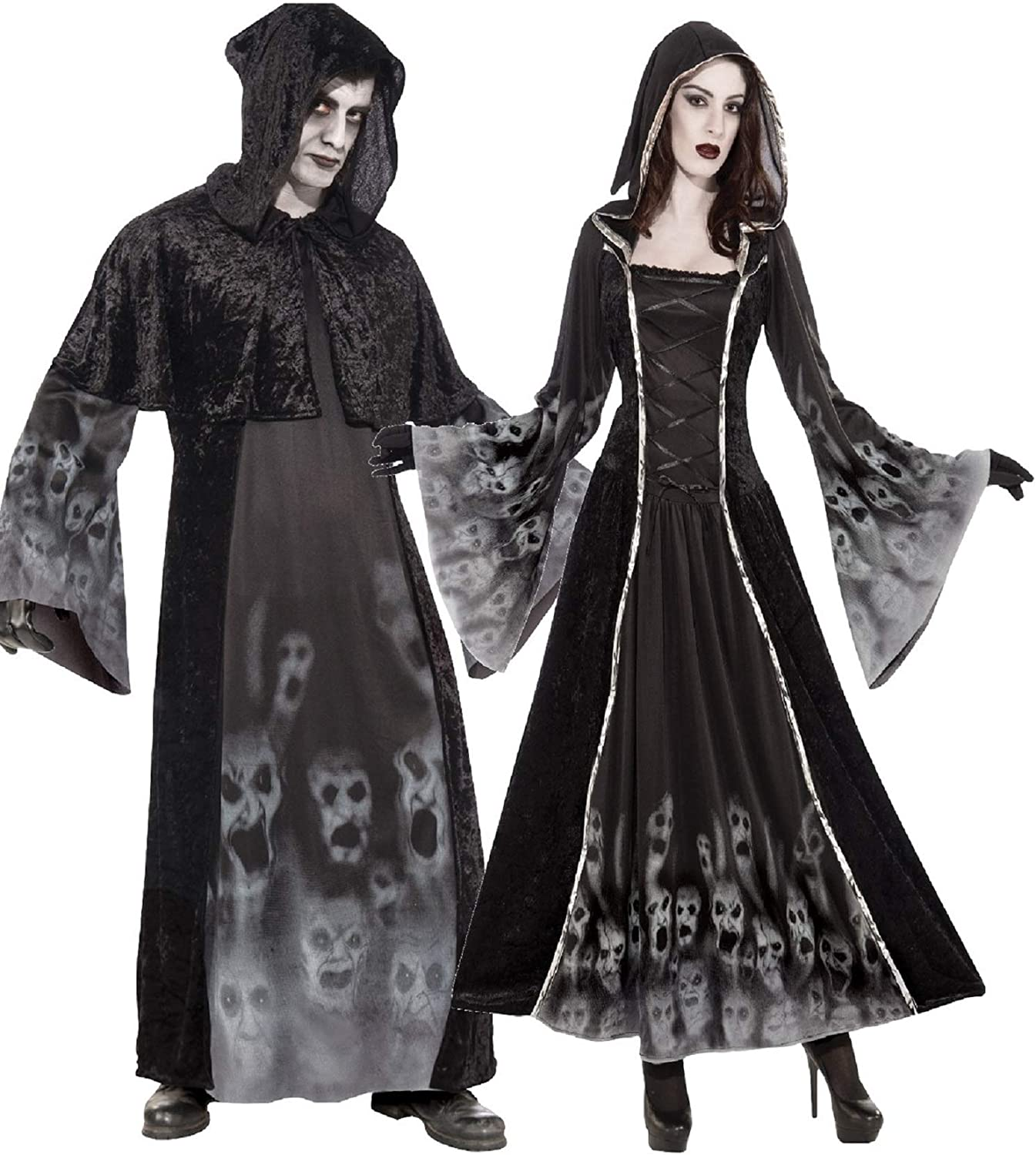 Lady Reaper Black Scary Fancy Dress Costume