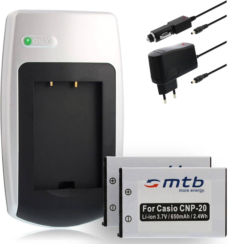 2X Baterías + Cargador para Casio NP-20: Amazon.es: Electrónica