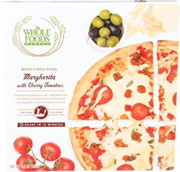 Whole Foods Market Margherita With Cherry Tomatoes Wood Fired Pizza 115 Oz