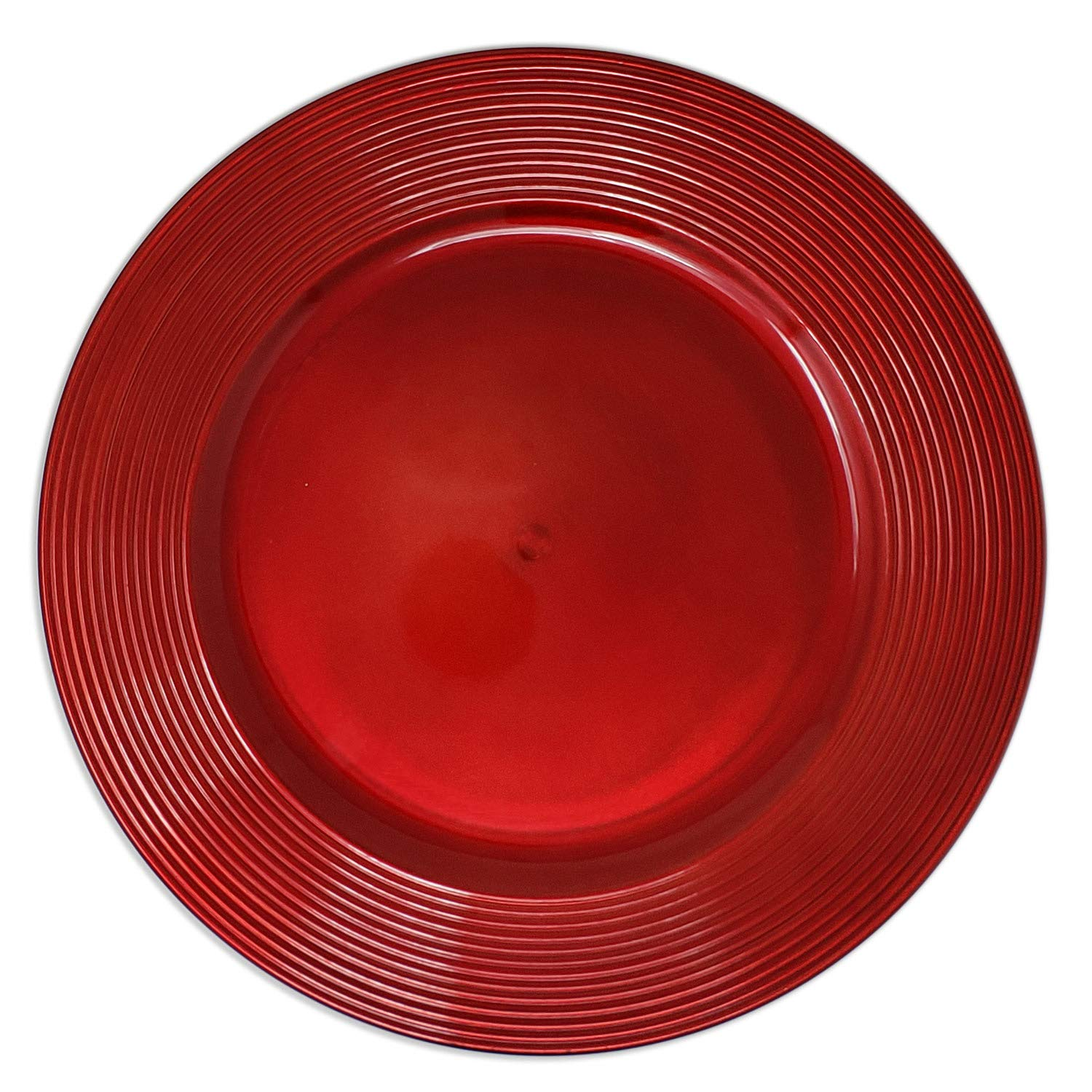 Dazzling Red Round Charger Dinner Plates 13 Inch, Set of 1,2,4,6, or 12 (12)