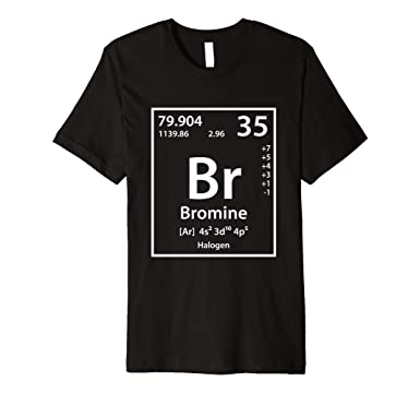 mens bromine periodic table of elements t shirt 2xl black