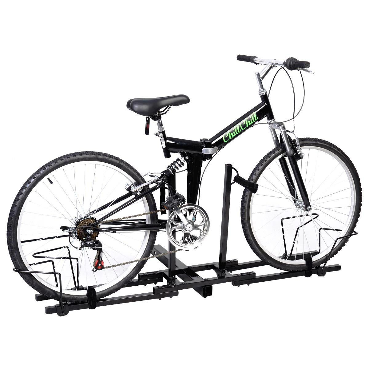 Super buy Upright Heavy Duty 2 Bike Bicycle Hitch Mount Carrier Platform Rack Truck SUV by Super buy (Image #2)