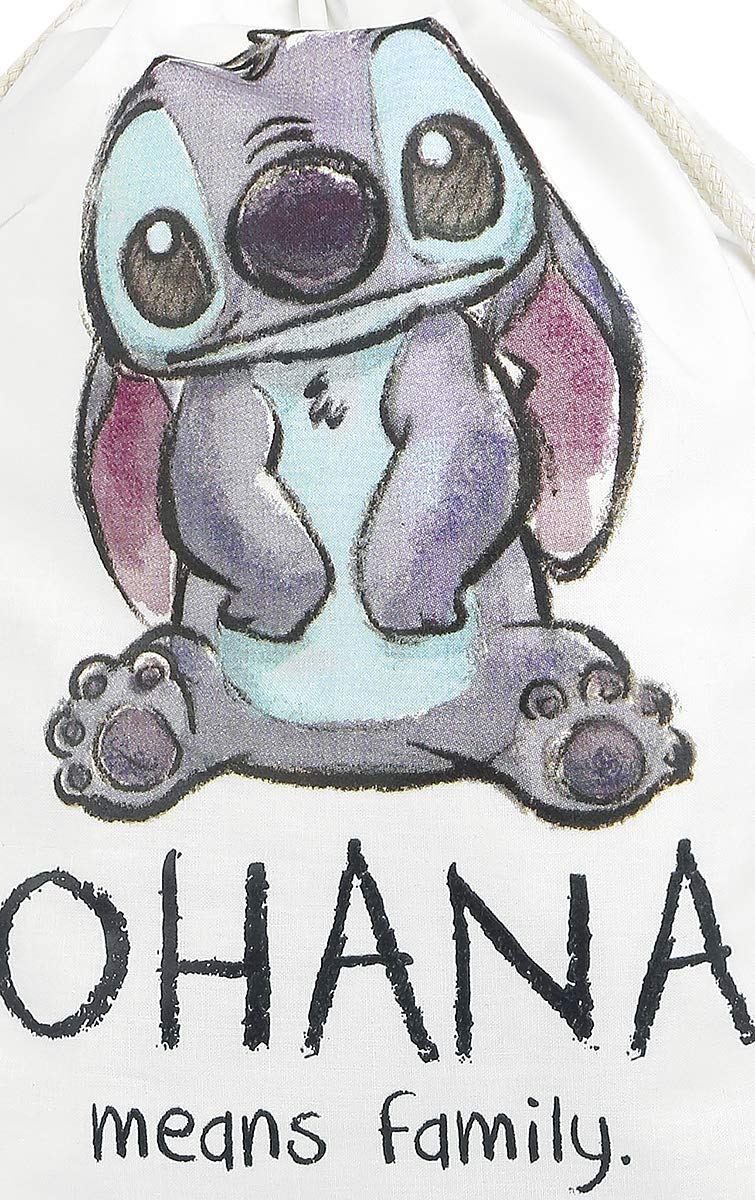 Lilo /& Stitch Ohana Bolsa de Deporte Blanco