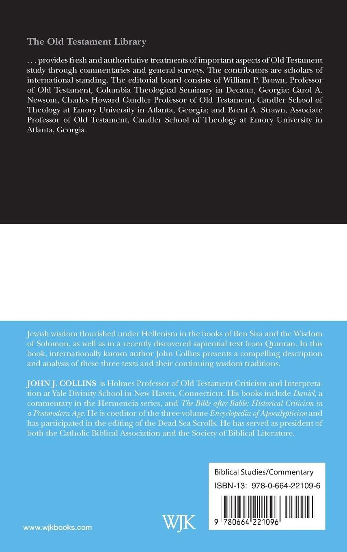 Jewish Wisdom In The Hellenistic Age Old Testament Library John J Collins 9780664221096 Amazon Books