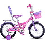 Hero Disney 16T Princess Junior Cycle with Carrier, Girl's (Capri Pink)