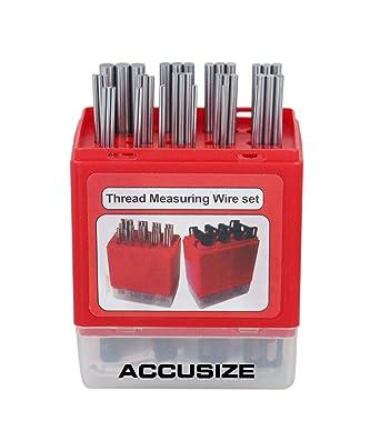 48 Pc Thread Measuring Wire Set 16 Different Diameter Sizes Pin Set