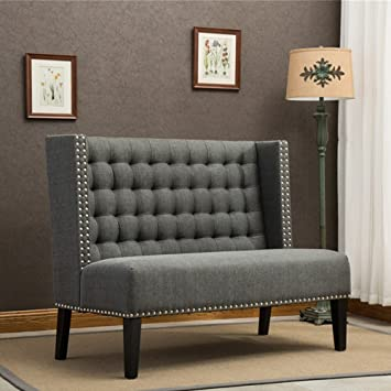 Modern Office Couch Amazoncom Tongli Modern Settee Banquette Bench Tufted  Fabric