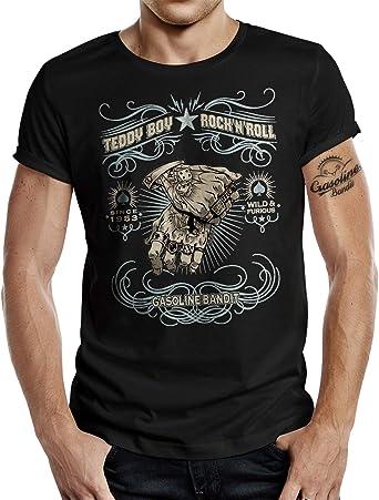 Rockabilly - Camiseta de Manga Corta, diseño de Osito: Amazon.es: Ropa y accesorios