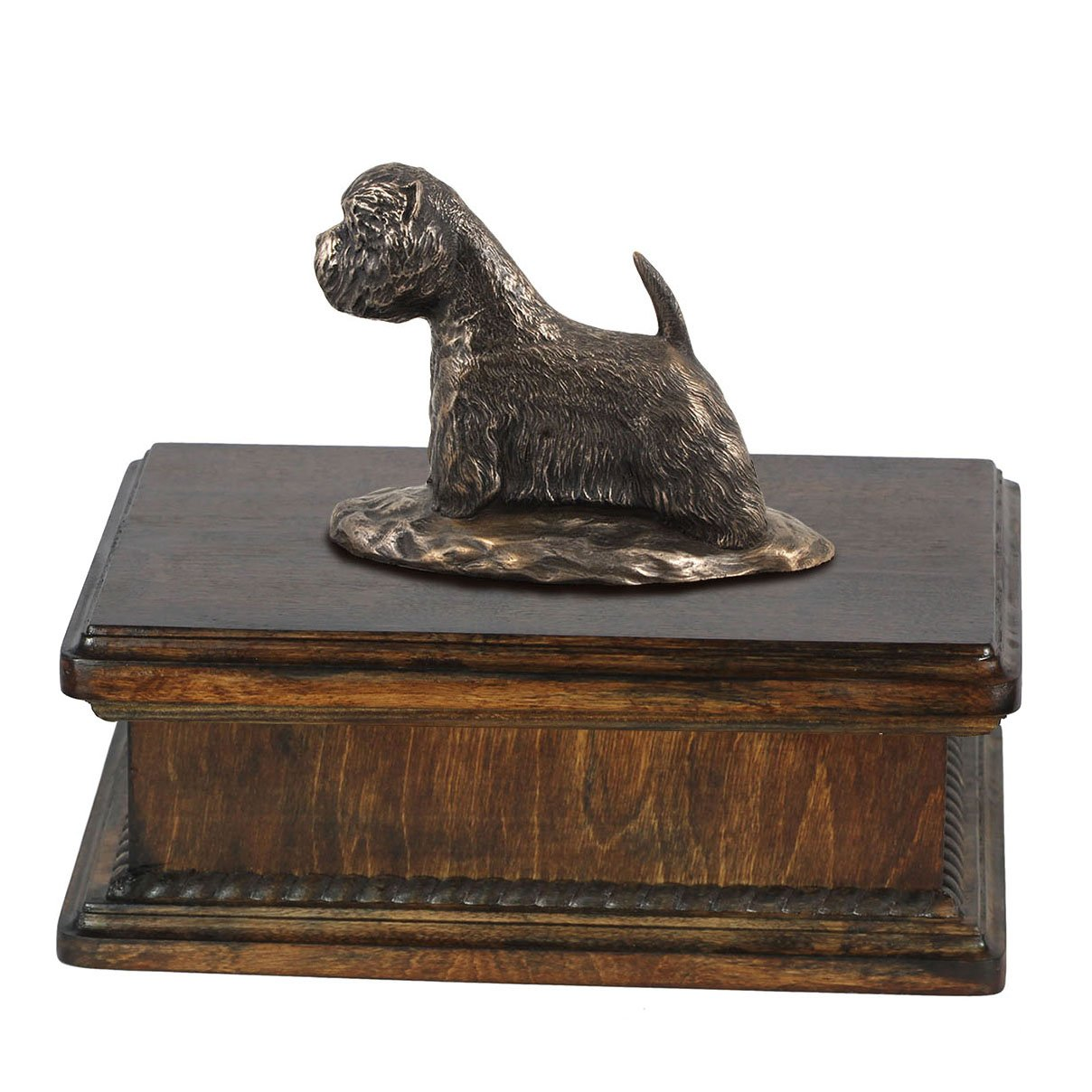 West Highland White Terrier, memorial, urn for dog's ashes, with dog statue, exclusive, ArtDog