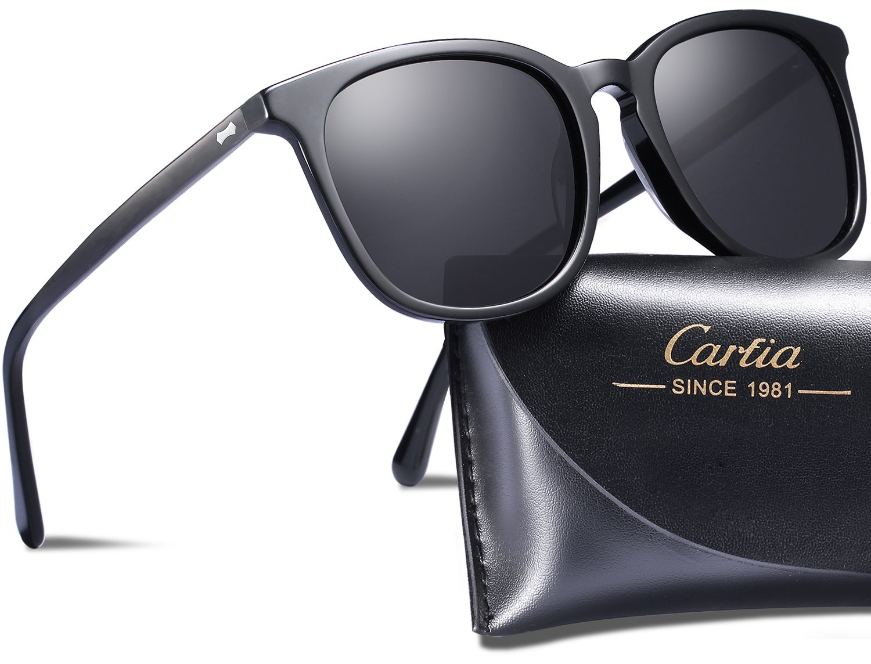 Carfia Vintage Outdoor Eyewear UV400 Polarized Sunglasses for Men Driving Travel Fishing