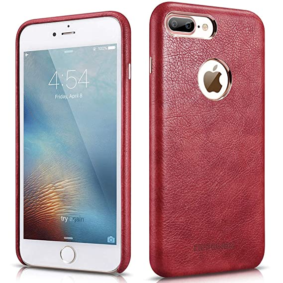iphone 8 case red leather