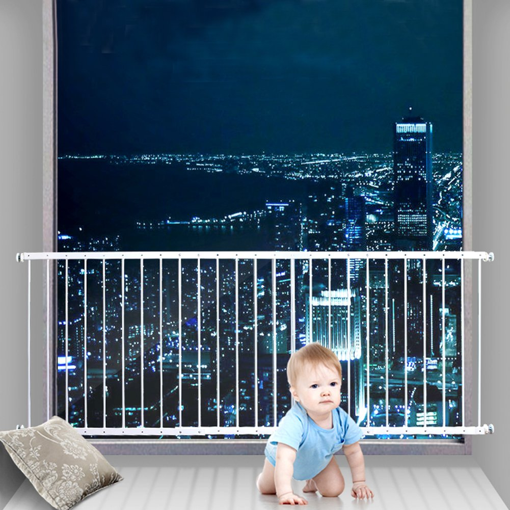 Fairy Baby Child Window Guards for Children Safety Window Gate Security Bars White,Fit 87.4-112.2 Inches Wide,3-7 Days Delivered by Fairy Baby