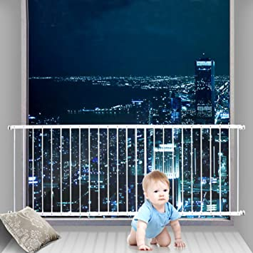 ALLAIBB Flexible Child Safety Window Guards Interior Security Burglar  Grilles, White, EX. 31.5