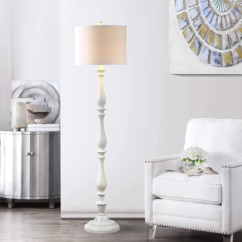 Amazon Com Safavieh Lighting Collection Bessie Candlestick White 62 Inch Floor Lamp Home Kitchen