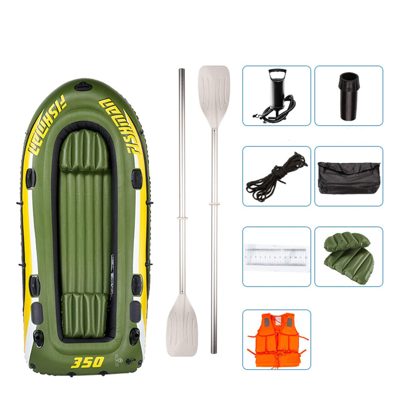 Barco de Goma Inflable, Barco de Pesca de río para 4 Personas, con ...