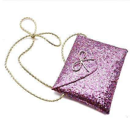 b0ea3a12e Amazon.com: SallyFashion Lovely Little Girl Kids Children Messenger Bag,  Bling Bling Shoulder Bag, Handbag, Purple: Home & Kitchen