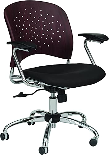 Safco Products Reve Task Chair with Square Back, Mahogany