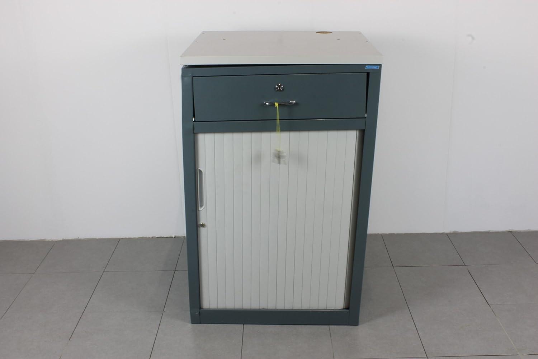 Computer Schrank Klappe Rollade Anthrazit Grau PC Aufbewahrung ...