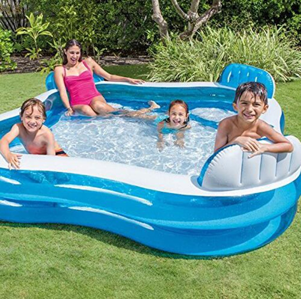 LJQ Summer Inflatable Swimming Pool Water Sports Baby Kids Family Garden Play Pools Big Portable Round Swimming Pool by LJQ (Image #1)