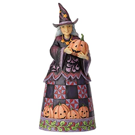 Enesco Jim Shore Heartwood Creek Halloween Witch with Pumpkin