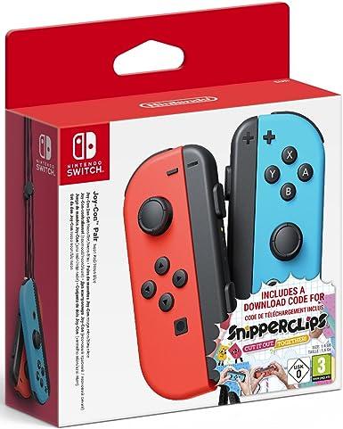 Nintendo - Set De Joy-Con Para Derecha Y Izquierda, Color Azul Neón Y Rojo Neón + Snipperclips Y Tarjeta Código Descarga - Edición Limitada (Nintendo Switch): Amazon.es: Videojuegos