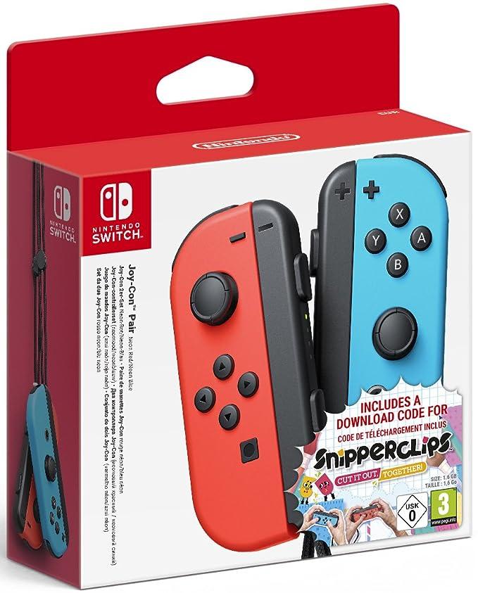 9 opinioni per Nintendo Switch: Set da Due Joy-Con + Snipperclips Download Card, Blu/Rosso Neon