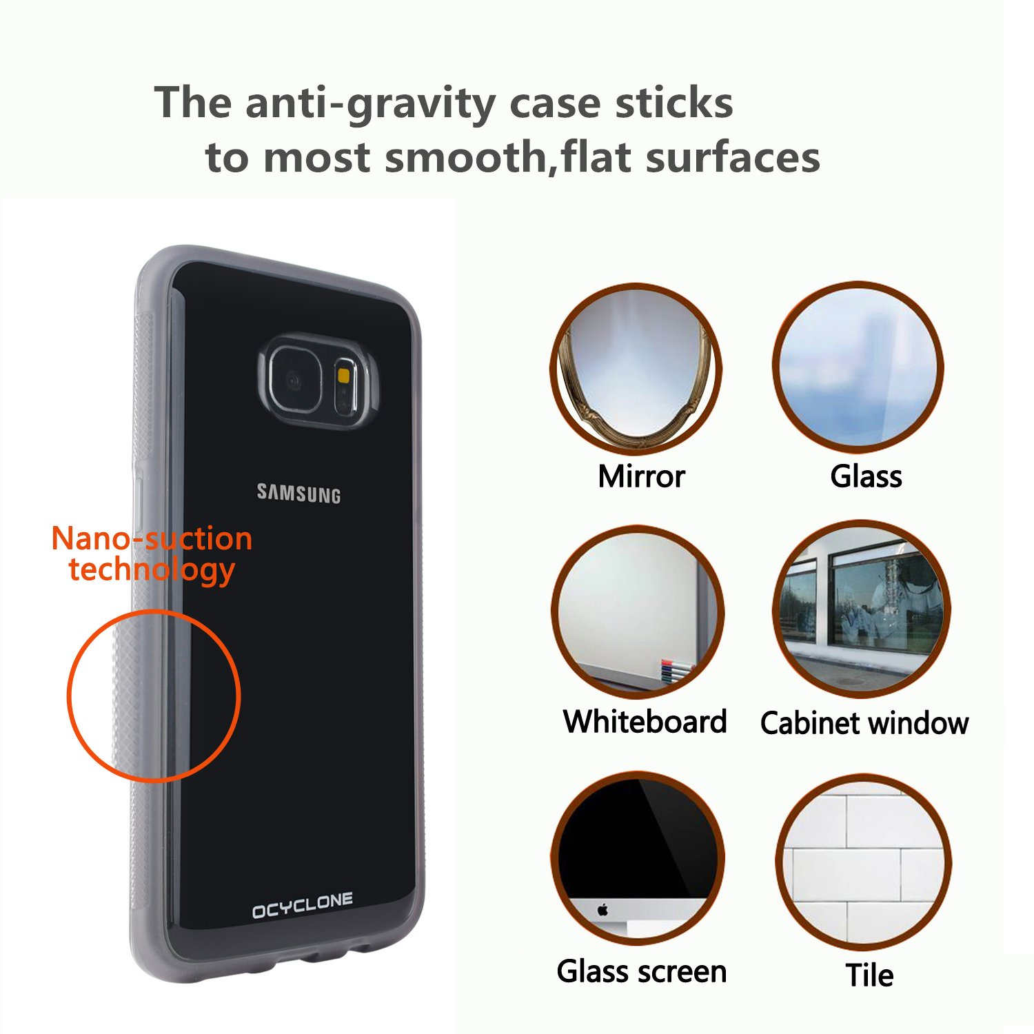 Furniture amp accessories 26 quot camo padded folding anti gravity chair - Amazon Com Samsung Galaxy S7 Edge Anti Gravity Phone Case Nano Hands Free Selfie Clear Protective Goat Case Stick To Mirror Glass Tile Smooth Surface