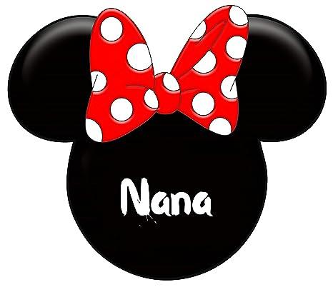 Amazon.com: Minnie Mouse Nana Iron On Transfer for T-Shirts ...