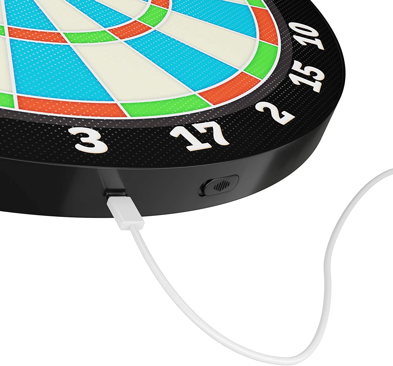 Light-up Magnetic Dart Board Game Innovative Illuminated Kids Safe Dartboard
