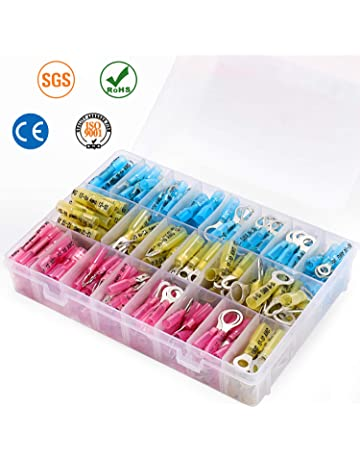 Ring Terminals x 100 Mixed Red Blue & Yellow