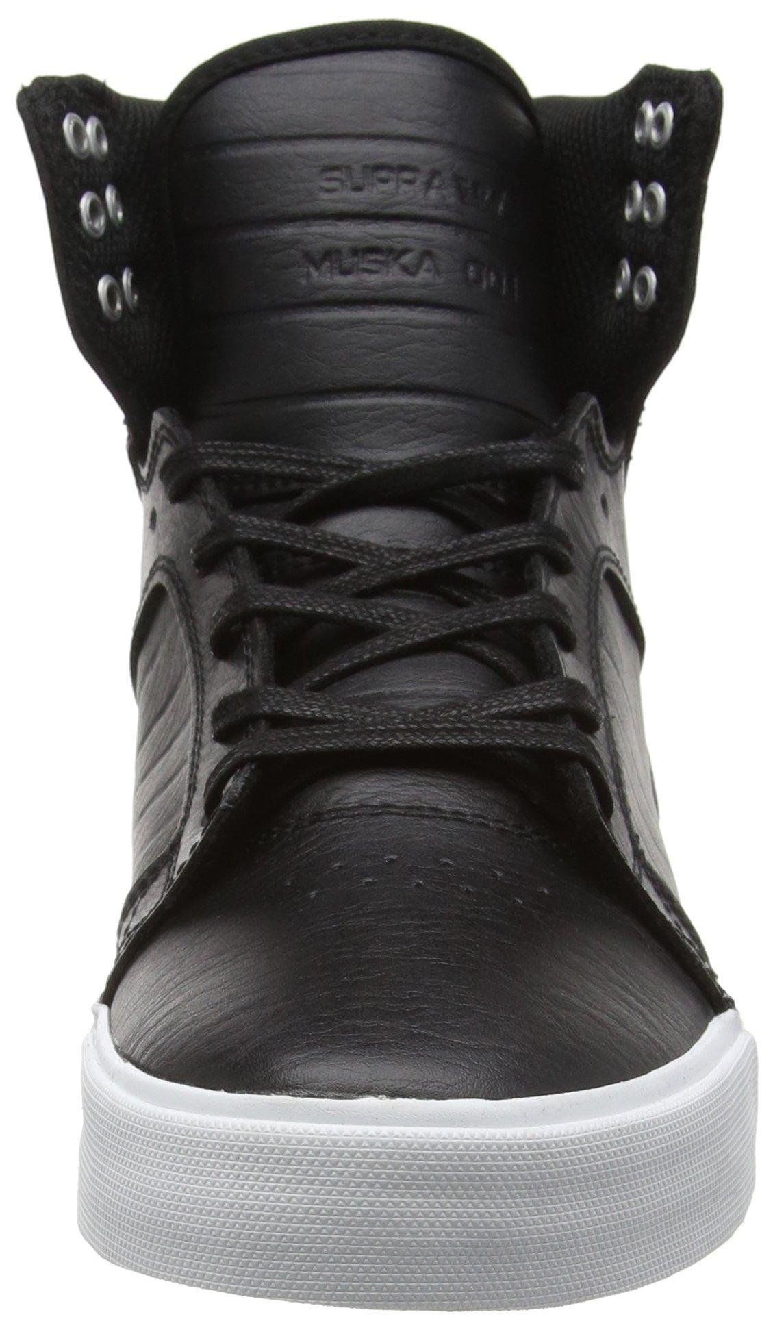 Supra Skytop Skate Shoe, Black/White, 5.5 Regular US by Supra (Image #4)