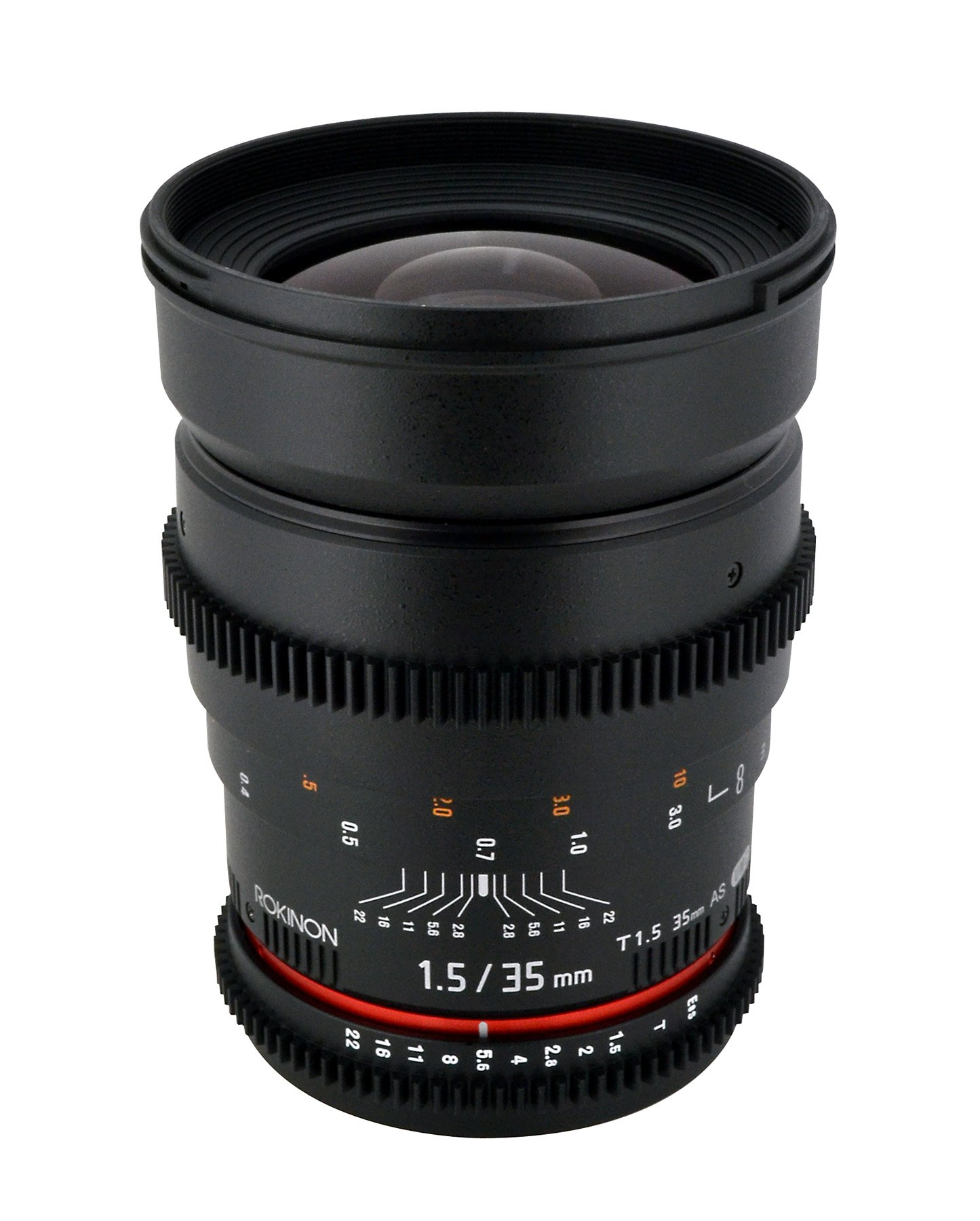 Rokinon Cine CV35-C 35mm T1.5 Aspherical Wide Angle Cine Lens with De-Clicked Aperture for Canon EOS DSLR 35-35mm, Fixed-Non-Zoom Lens by Rokinon (Image #1)