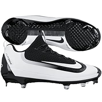 best website 598cf 4257d Amazon.com   Nike Men s Air Huarache 2KFilth Elite Low Metal Cleats, Black White,  10.5   Baseball   Softball